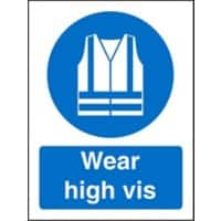 Mandatory Sign Wear High Vis Plastic Blue, White 30 x 20 cm