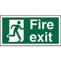Fire Exit Sign Right Arrow Vinyl 10 x 20 cm