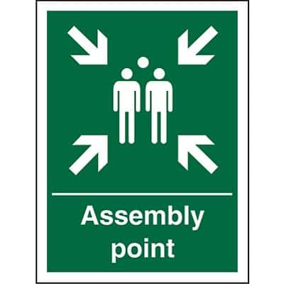 Safe Procedure Sign Assembly Point Vinyl 40 x 30 cm