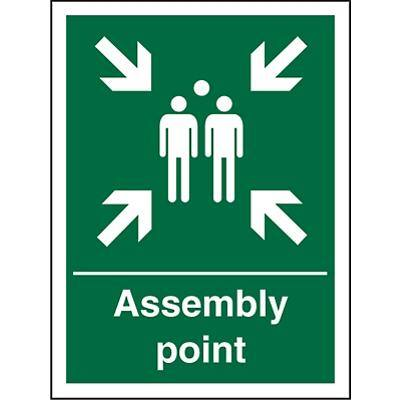 Safe Procedure Sign Assembly Point Plastic 60 x 40 cm
