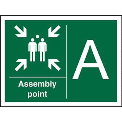 Safe Procedure Sign Assembly Point A Plastic 30 x 40 cm