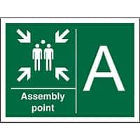 Safe Procedure Sign Assembly Point A Plastic 40 x 60 cm