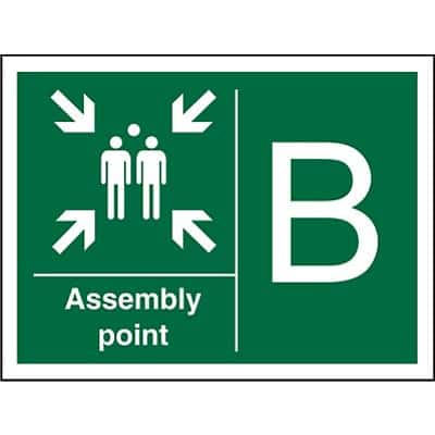 Safe Procedure Sign Assembly Point B Vinyl 30 x 40 cm