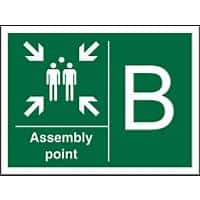 Safe Procedure Sign Assembly Point B Plastic 30 x 40 cm