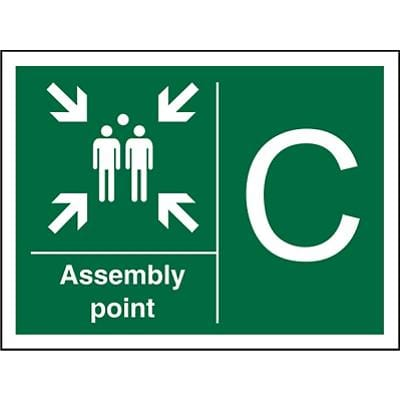Safe Procedure Sign Assembly Point C Plastic 30 x 40 cm