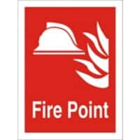 Fire Sign Fire Point Plastic 20 x 15 cm