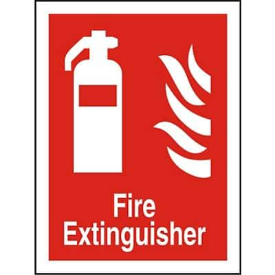 Fire Extinguisher Sign Vinyl 30 x 20 cm