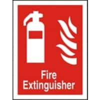 Fire Extinguisher Sign Plastic 30 x 20 cm