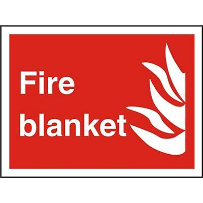 Fire Sign Blanket Plastic 15 x 20 cm