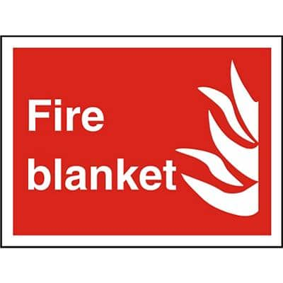 Fire Sign Blanket Plastic 20 x 30 cm
