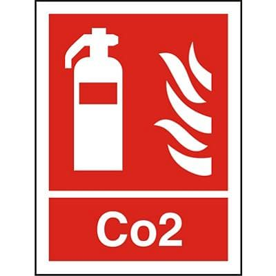 Fire Extinguisher Sign Co2 Plastic 20 x 15 cm