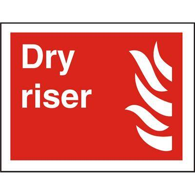 Fire Sign Dry Riser Self Adhesive Vinyl 20 x 30 cm