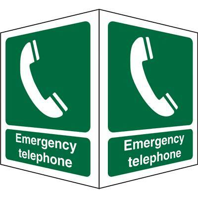 First Aid Sign Emergency Telephone Plastic 20 x 15 cm
