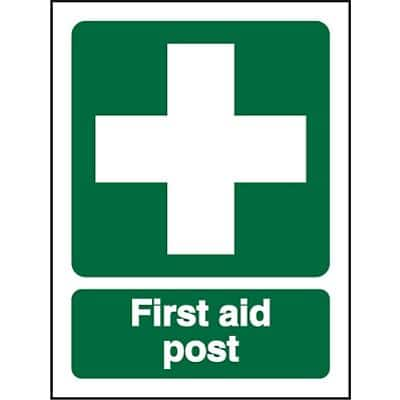 First Aid Sign First Aid Post Vinyl 30 x 20 cm