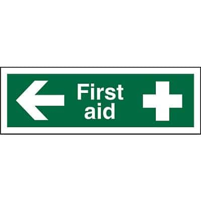 First Aid Sign First Aid Vinyl 10 x 30 cm