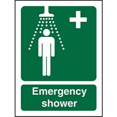 First Aid Sign Shower Plastic 30 x 20 cm