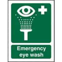 First Aid Sign Eye Wash Vinyl 20 x 15 cm