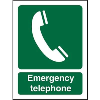 First Aid Sign Emergency Telephone Self Adhesive Plastic 20 x 15 cm