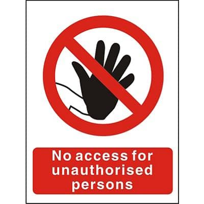 Prohibition Sign No Access Vinyl 40 x 30 cm