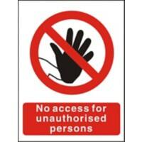 Prohibition Sign No Access Plastic 30 x 20 cm