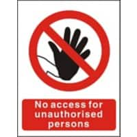 Prohibition Sign No Access Plastic 40 x 30 cm