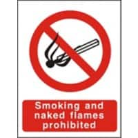 Prohibition Sign Naked Flames Plastic 40 x 30 cm