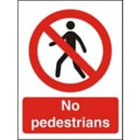 Prohibition Sign No Pedestrians Plastic 30 x 20 cm