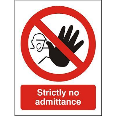 Prohibition Sign Strictly No Admittance Vinyl 30 x 20 cm