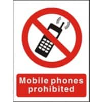 Prohibition Sign No Mobiles Vinyl 40 x 30 cm