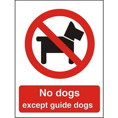 Prohibition Sign No Dogs Vinyl 30 x 20 cm