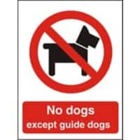 Prohibition Sign No Dogs Plastic 30 x 20 cm