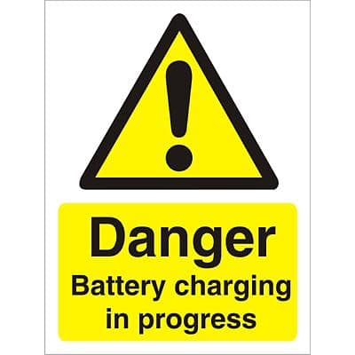 Warning Sign Battery Charging Plastic 40 x 30 cm