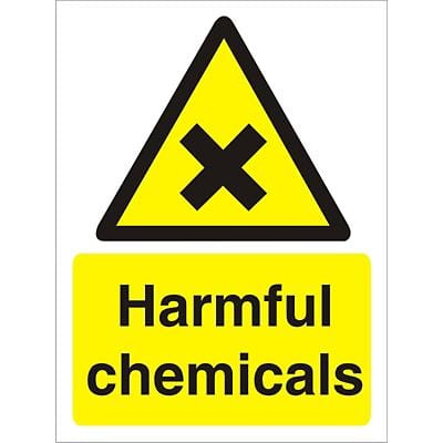Warning Sign Harmful Chemicals Vinyl 30 x 20 cm