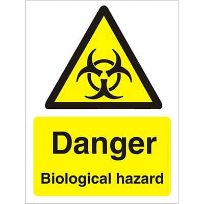 Warning Sign Biological Hazard Self Adhesive Vinyl 40 x 30 cm
