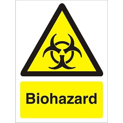 Warning Sign Biohazard Vinyl 40 x 30 cm