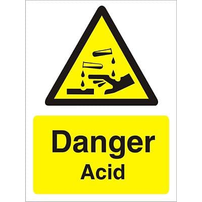 Warning Sign Acid Vinyl 40 x 30 cm