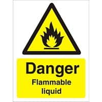 Warning Sign Flammable Liquid Vinyl 40 x 30 cm