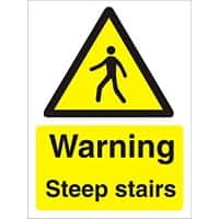 Warning Sign Steep Stairs Plastic 30 x 20 cm