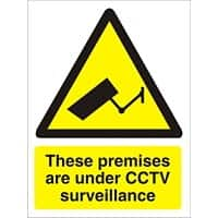 Warning Sign Under CCTV Plastic 40 x 30 cm