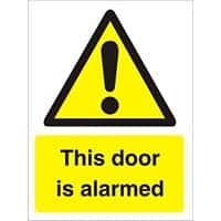 Warning Sign Door Alarmed Plastic 20 x 15 cm