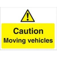 Warning Sign Moving Vehicles PVC 45 x 60 cm