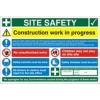 Site Sign Site Safety Fluted Board 40 x 60 cm