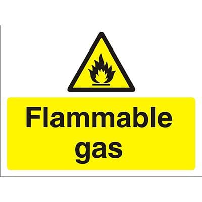 Warning Sign Flammable Gas Fluted Board 45 x 60 cm