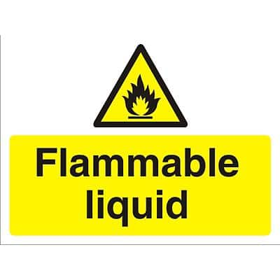 Warning Sign Flammable Liquid PVC 45 x 60 cm