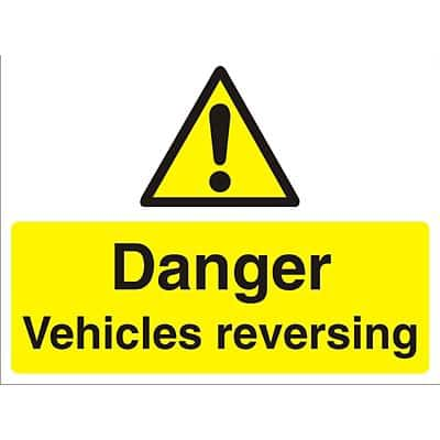 Warning Sign Vehicles Reversing PVC 45 x 60 cm