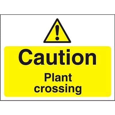 Warning Sign Plant Crossing PVC 30 x 40 cm
