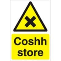 Warning Sign Coshh Store PVC 30 x 20 cm