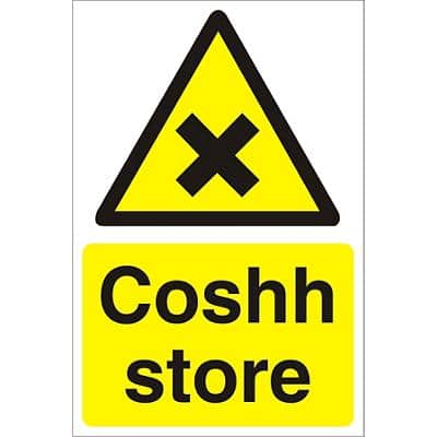 Warning Sign Coshh Store PVC 60 x 40 cm
