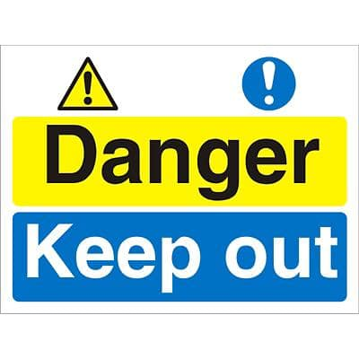 Warning Sign Keep Out Fluted Board 30 x 40 cm