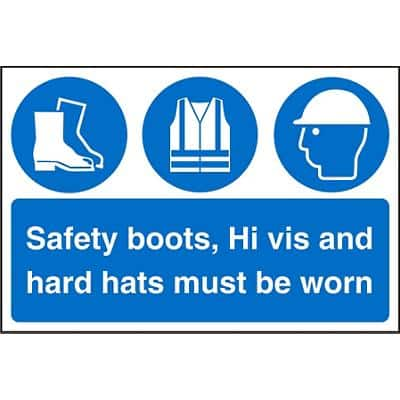 Mandatory Sign Safety Boots Plastic 40 x 60 cm